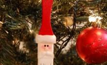 Adorno de Santa Claus con pincel