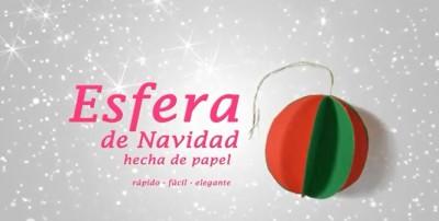 Bola navideña de papel  1