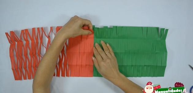 Como hacer guirnaldas navideñas con papel 3