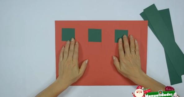 Como hacer individuales navideños con papel 3