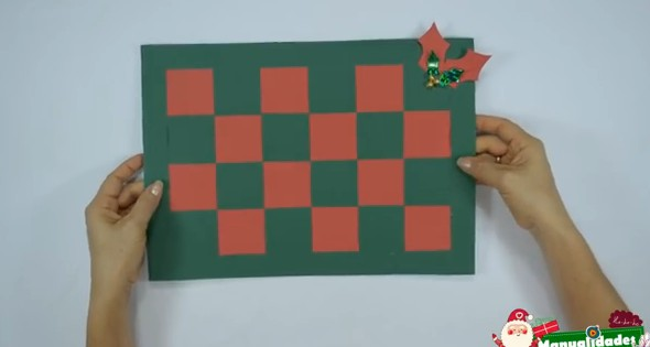 Como hacer individuales navideños con papel 4
