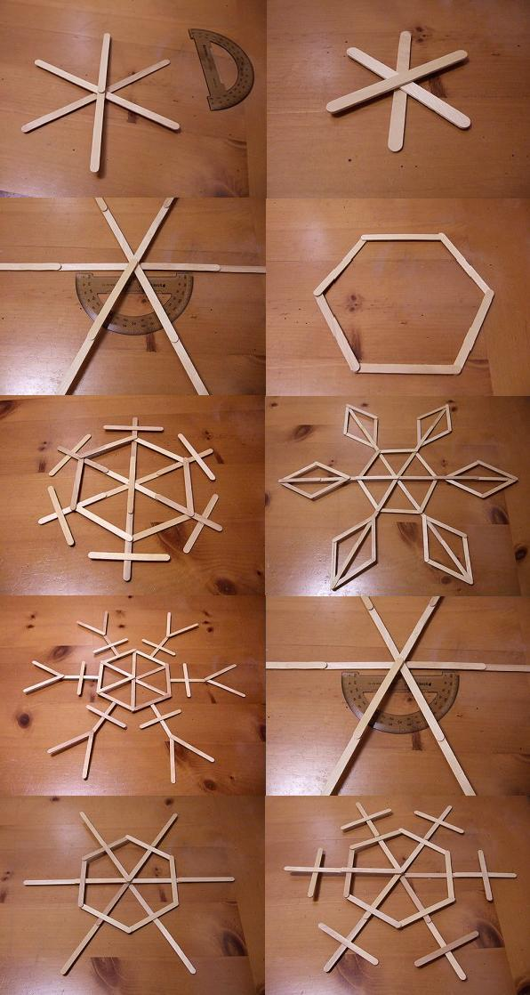 Copos de madera navideños