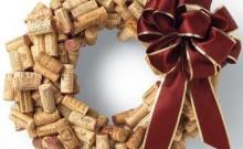 Corona de Navidad con corchos de botella