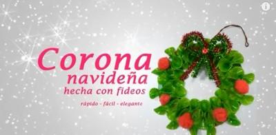 Corona navideña con pastas