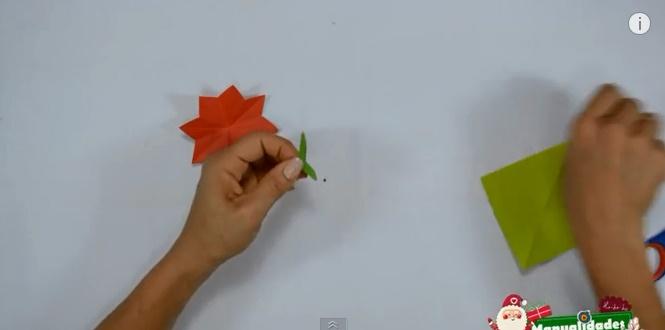 Estrella de navidad de papel 5