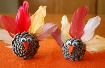 Pavos con piña para Dia de Accion de Gracias