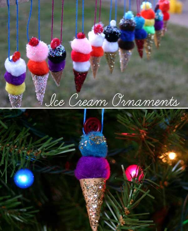 Adornos en forma de helados para el arbolito for Adornos navidenos que pueden hacer los ninos