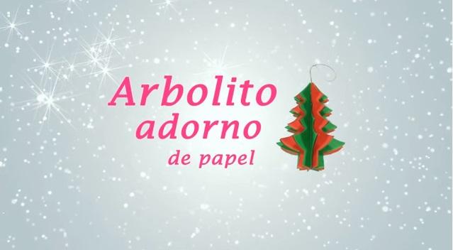 Adorno en forma de arbolito navideño