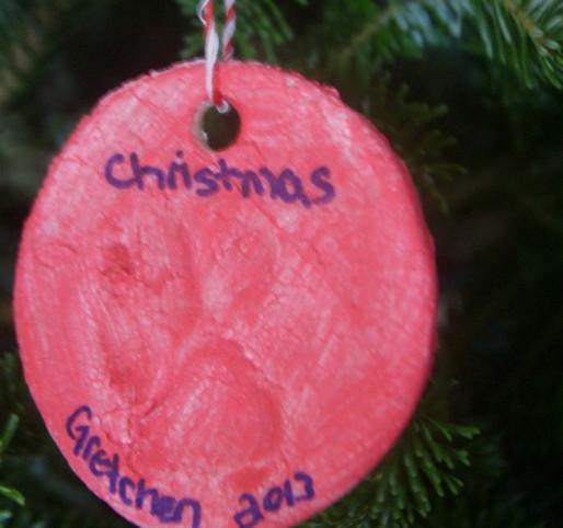 como hacer adornos de Navidad de mascotas
