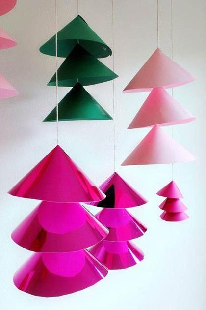 Adornos para navidad de papel - Adornos de navidad con papel ...