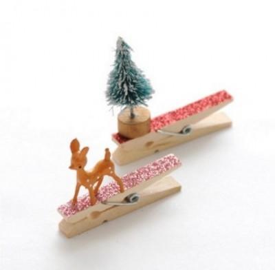 adornos navideños con sujetadores