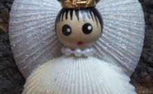 Angel de Navidad conchas de mar