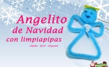 Angelito navideño con limpiapipas