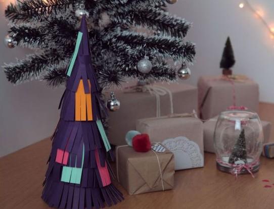 Como hacer un árbol de Navidad con papel