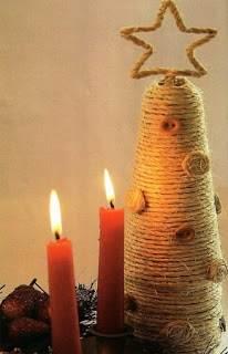 Árbol de Navidad al estilo rústico
