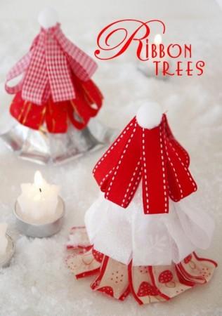 Arbol navideño de tela