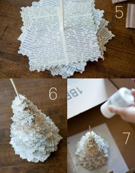 arbolito de navidad de papel reciclado