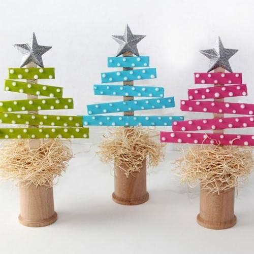 Arbolitos de navidad de papel - Manualidades faciles navidad ...