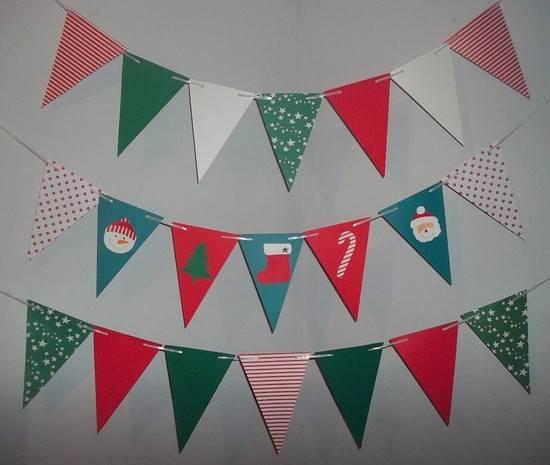 Banderines de navidad para decorar - Guirnaldas navidad manualidades ...
