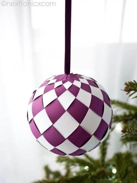 Decorar las bolas de navidad con papel - Manualidades de papel para decorar ...