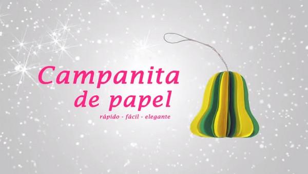 como hacer campanas de papel