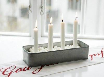 Adorno con velas para navidad