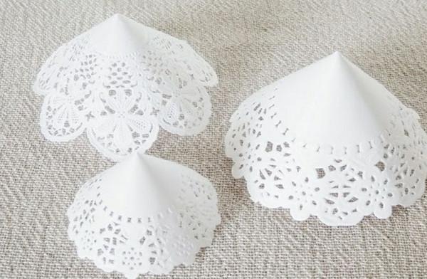 como hacer arboles de navidad de papel puntilla