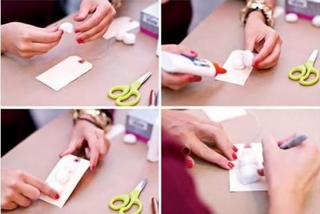 como hacer una tarjeta para regalos navidenos