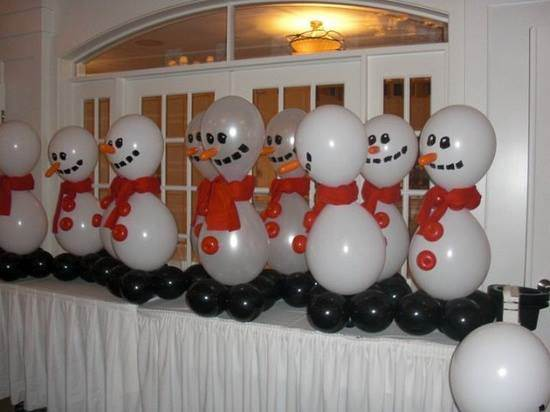 Adornos navide os con globos en forma de mu ecos - Como hacer decoracion navidena para el hogar ...