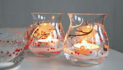 centros de mesa navideos con velas