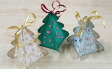 Envoltura en forma de arbolito navideño
