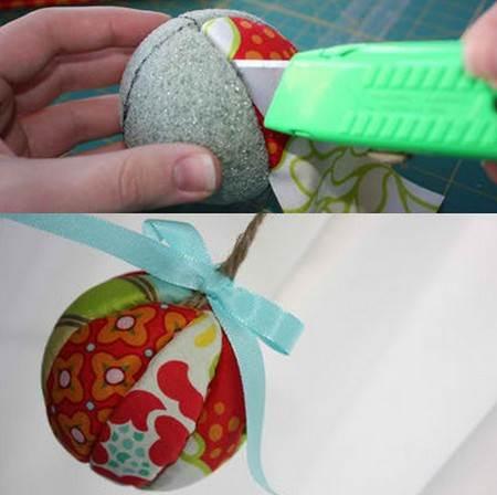 Como hacer esferas de navidad - Como realizar adornos navidenos ...