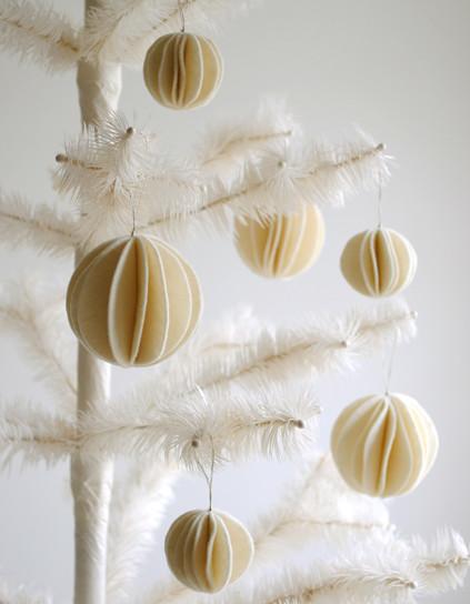 esferas de navidad de fieltro