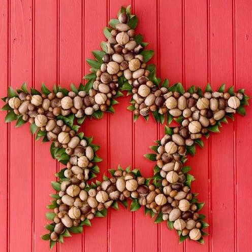 Estrellas navide as con frutos secos Utilisima decoracion