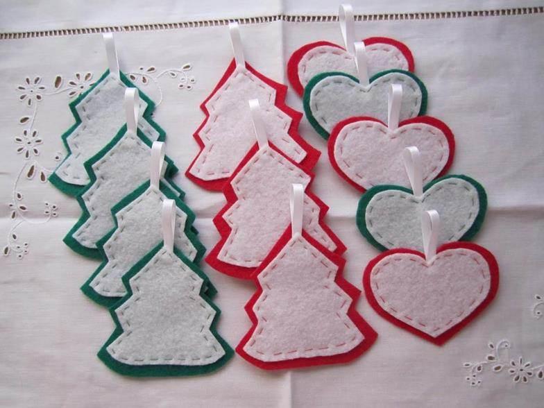 Manualidades de navidad con fieltro - Como hacer cosas de navidad ...