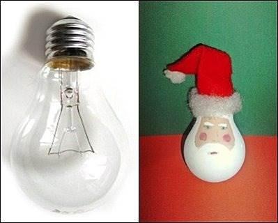 Papa Noel con un foco