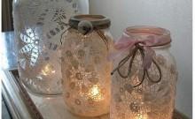 decorar frascos para navidad