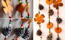 Guirnaldas piñas con frutas