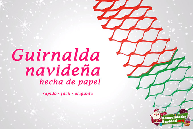 Guirnalda navideña con papel