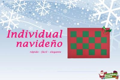 Individual navideño de papel