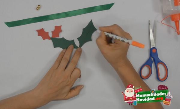 Como hacer un lazo navideño