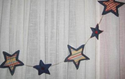 estrellas de navidad hechas con tela