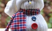 como hacer un muñeco de nieve de tela