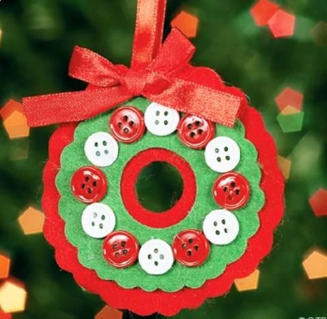 Coronas de navidad con fieltro - Manualidades con fieltro para navidad ...