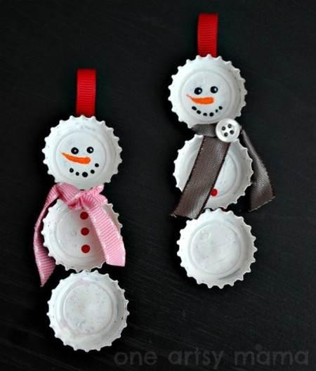 Adornos de navidad con tapas de botella - Para navidad manualidades ...