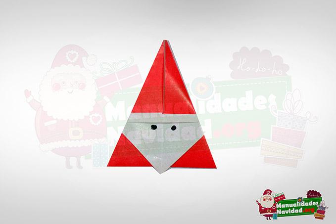 Como hacer un pap noel de origami for Adornos navidenos origami paso a paso