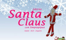 Papá Noel colgante con limpiapipas