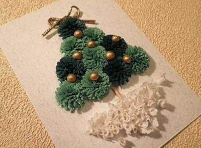 Cómo hacer tarjetas de Navidad con cintas