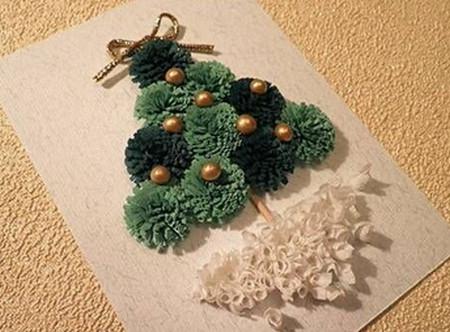 C mo hacer tarjetas de navidad con cintas for Crear tarjetas de navidad