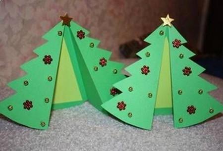como hacer tarjetas de navidad en 3d